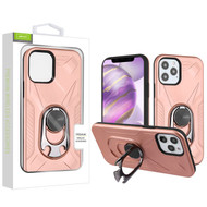 Airium Hybrid Protector Case (with Ring Holder Kickstand Bottle) for Apple iPhone 12 Pro Max (6.7) - Rose Gold / Black