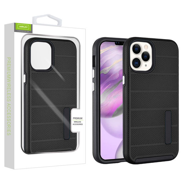 Airium Fusion Protector Case for Apple iPhone 12 Pro Max (6.7) - Black Dots Textured / Black