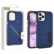 Airium Fusion Protector Case for Apple iPhone 12 Pro Max (6.7) - Ink Blue Dots Textured / Black