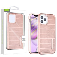 Airium Fusion Protector Case for Apple iPhone 12 Pro Max (6.7) - Rose Gold Dots Textured / Rose Gold