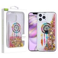 Airium Quicksand Glitter Hybrid Protector Case for Apple iPhone 12 Pro Max (6.7) - Dreamcatcher & Gold Stars