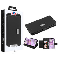 MyBat MyJacket Wallet Xtra Series for Apple iPhone 12 Pro Max (6.7) - Black / Black