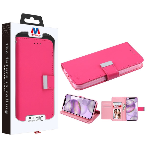 MyBat MyJacket Wallet Xtra Series for Apple iPhone 12 Pro Max (6.7) - Hot Pink / Pink