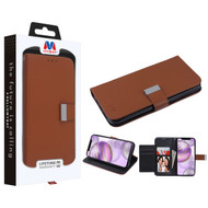 MyBat MyJacket Wallet Xtra Series for Apple iPhone 12 Pro Max (6.7) - Brown / Black