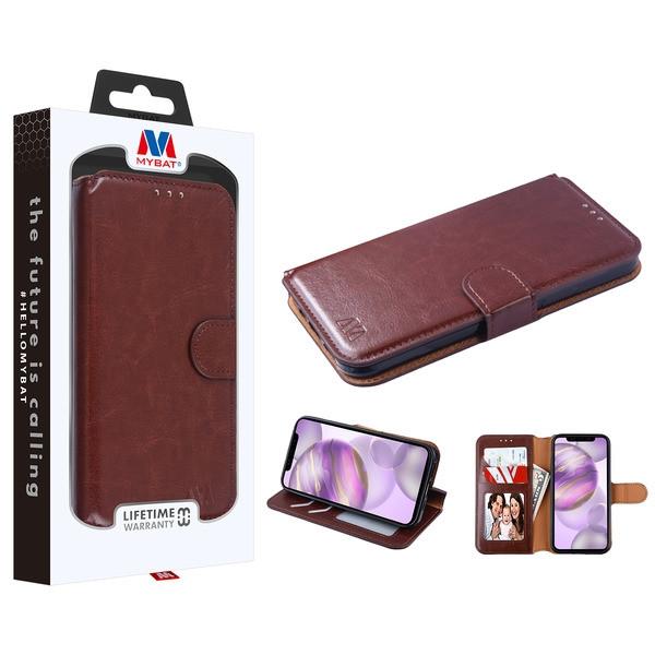 MyBat MyJacket Wallet Element Series for Apple iPhone 12 Pro Max (6.7) - Brown