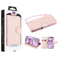 MyBat Liner MyJacket Wallet Crossgrain Series for Apple iPhone 12 Pro Max (6.7) - Rose Gold Pattern / Rose Gold