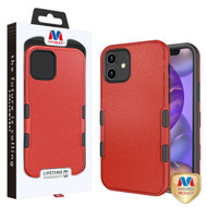 MyBat TUFF Subs Hybrid Case for Apple iPhone 12 mini (5.4) - Natural Red / Black