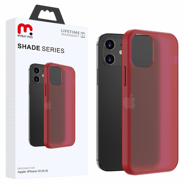MyBat Pro Shade Series Hybrid Case for Apple iPhone 12 mini (5.4) - Semi Transparent Burgundy