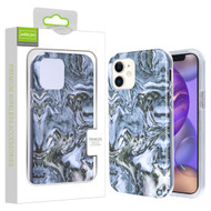 Airium Frame Hybrid Case for Apple iPhone 12 mini (5.4) - Grey Stone Marbling Grey