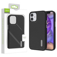 Airium Drilled Holes Hybrid Case for Apple iPhone 12 mini (5.4) - Black / Black