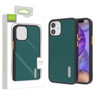 Airium Drilled Holes Hybrid Case for Apple iPhone 12 mini (5.4) - Midnight Green / Black
