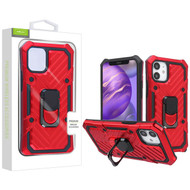 Airium Hybrid Case (with Ring Stand) for Apple iPhone 12 mini (5.4) - Red / Black