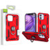 Airium Anti-Drop Hybrid Protector Case (with Ring Stand) for Apple iPhone 12 mini (5.4) - Red / Black