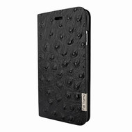 Piel Frama 767 Black Ostrich FramaSlimCards Leather Case for Apple iPhone 7 Plus
