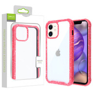 Airium Splash Hybrid Case for Apple iPhone 12 mini (5.4) - Highly Transparent Clear / Red
