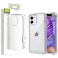 Airium Hybrid Case for Apple iPhone 12 mini (5.4) - Highly Transparent Clear / Semi Transparent White