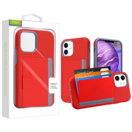 Airium Poket Hybrid Protector Cover for Apple iPhone 12 mini (5.4) - Red / Gray