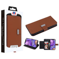 MyBat MyJacket Wallet Xtra Series for Apple iPhone 12 mini (5.4) - Brown / Black