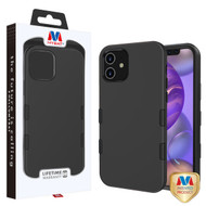 MyBat TUFF Subs Hybrid Case for Apple iPhone 12 mini (5.4) - Rubberized Black / Black