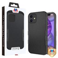 MyBat TUFF Subs Hybrid Case for Apple iPhone 12 mini (5.4) - Natural Black / Black