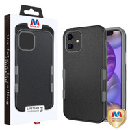 MyBat TUFF Subs Hybrid Case for Apple iPhone 12 mini (5.4) - Natural Black / Iron Gray