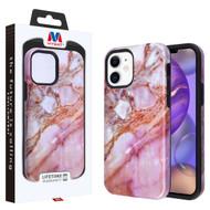 MyBat Fuse Hybrid Protector Cover for Apple iPhone 12 mini (5.4) - Purple Marbling / Black