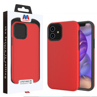 MyBat Fuse Hybrid Protector Cover for Apple iPhone 12 mini (5.4) - Rubberized Red / Black