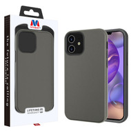 MyBat Fuse Hybrid Protector Cover for Apple iPhone 12 mini (5.4) - Rubberized Gunmetal Gray / Black