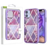 Airium Hybrid Case for Apple iPhone 12 mini (5.4) - Purple Marbling / Purple