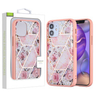 Airium Hybrid Case for Apple iPhone 12 mini (5.4) - Roses Marbling / Pink