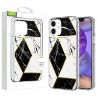 Airium Fusion Protector Cover for Apple iPhone 12 mini (5.4) - Electroplated Black Marbling