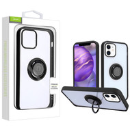 Airium Hybrid Case (with Ring Stand) for Apple iPhone 12 mini (5.4) - Transparent Clear / Black