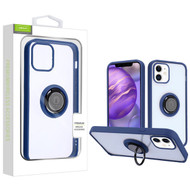Airium Hybrid Case (with Ring Stand) for Apple iPhone 12 mini (5.4) - Transparent Clear / Blue