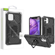 Airium Hybrid Case (with Ring Stand) for Apple iPhone 12 mini (5.4) - Black / Black