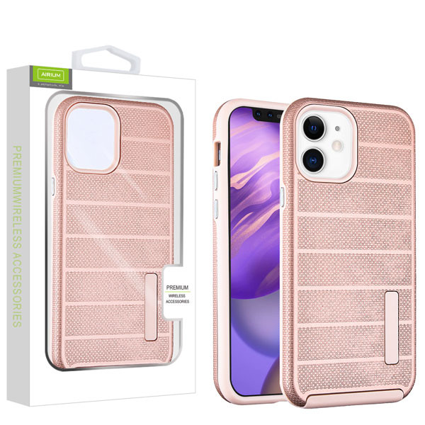 Airium Fusion Protector Case for Apple iPhone 12 mini (5.4) - Rose Gold Dots Textured / Rose Gold