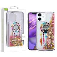 Airium Quicksand Glitter Hybrid Protector Case for Apple iPhone 12 mini (5.4) - Dreamcatcher & Gold Stars