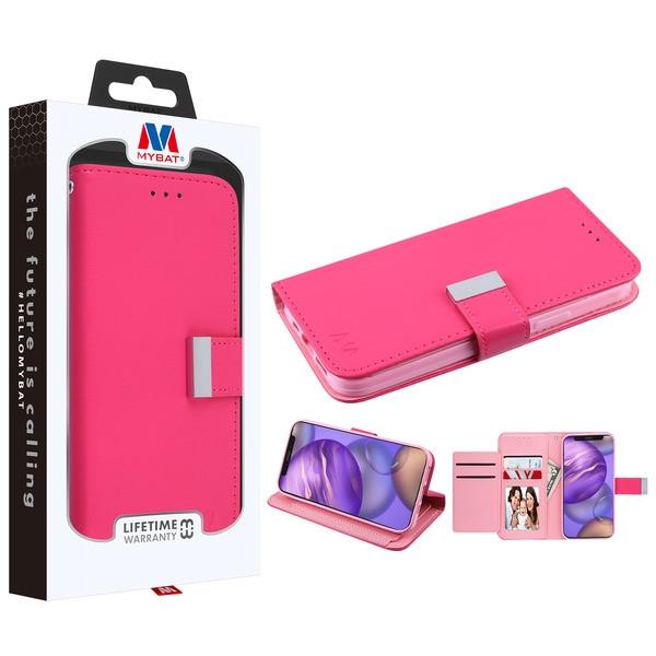 MyBat MyJacket Wallet Xtra Series for Apple iPhone 12 mini (5.4) - Hot Pink / Pink
