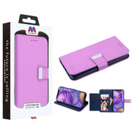 MyBat MyJacket Wallet Xtra Series for Apple iPhone 12 mini (5.4) - Purple / Dark Blue
