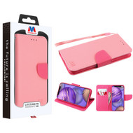 MyBat Liner MyJacket Wallet Crossgrain Series for Apple iPhone 12 mini (5.4) - Pink Pattern / Hot Pink