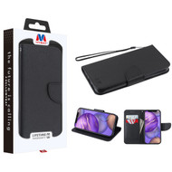 MyBat Liner MyJacket Wallet Crossgrain Series for Apple iPhone 12 mini (5.4) - Black Pattern / Black