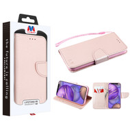 MyBat Liner MyJacket Wallet Crossgrain Series for Apple iPhone 12 mini (5.4) - Rose Gold Pattern / Rose Gold