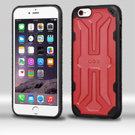 Airium DefyR Hybrid Protector Case for Apple iPhone 6s Plus/6 Plus - Natural Red / Black