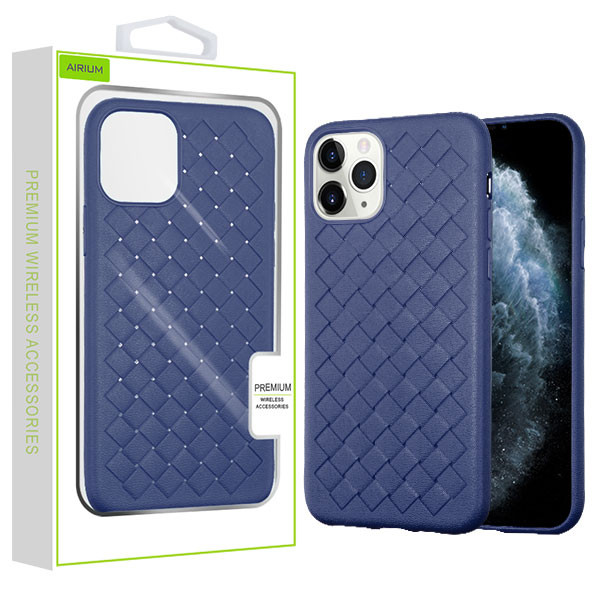 Airium Woven Grain Candy Skin Cover for Apple iPhone 11 Pro - Ink Blue