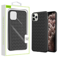 Airium Woven Grain Candy Skin Cover for Apple iPhone 11 Pro Max - Black