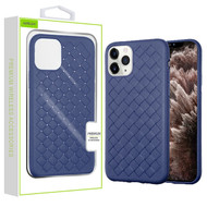 Airium Woven Grain Candy Skin Cover for Apple iPhone 11 Pro Max - Ink Blue