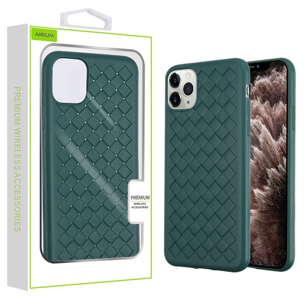Airium Woven Grain Candy Skin Cover for Apple iPhone 11 Pro Max - Forest Green