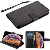 Airium 3D Butterfly Flower MyJacket Wallet for Apple iPhone XS Max - Black