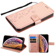 Airium 3D Butterfly Flower MyJacket Wallet for Apple iPhone XS Max - Rose Gold