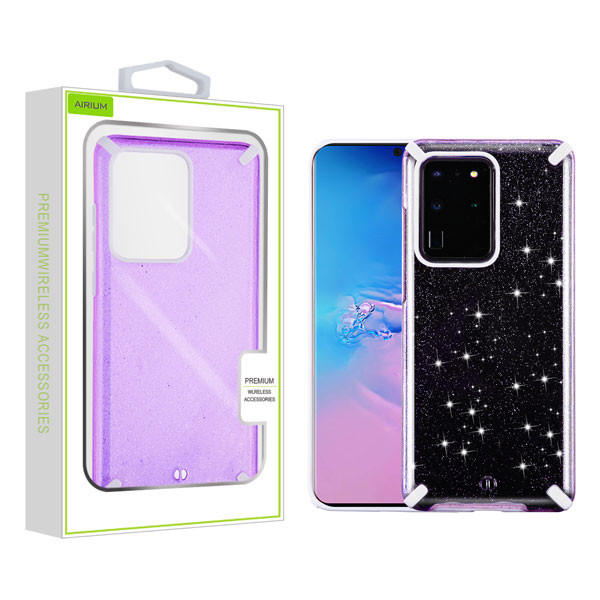 Airium Fusion Protector Cover for Samsung Galaxy S20 Ultra (6.9) - Purple Glitter