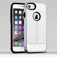 Airium Hybrid Protector Cover for Apple iPhone 6s Plus/6 Plus - Silver Leather Texture / Black